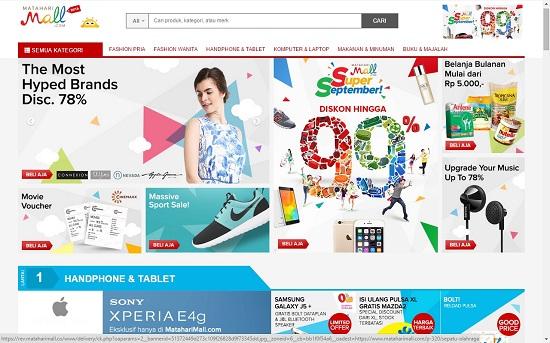 Toko Online Matahari Mall