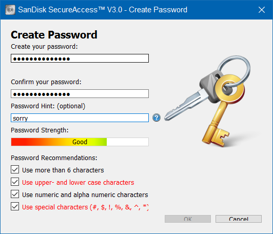 cara membuat password pada flashdisk